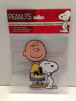 NEW Peanuts Chuck Charles Charlie Brown Window Sticker Decal Cling