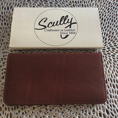 Scully Accessories Brown Soft Plonge Leather Pocket Ruled Manuscript NIB. NR