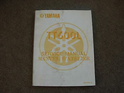 Yamaha TT600L Motor Cycle Service Manual , mid 1980's