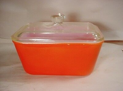 """Vintage 1950s """"Red"""" MAID OF HONOR Ovenware Refrigerator Casserole Dish w Cover"""