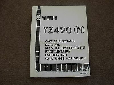 Yamaha YZ490N Motor Cycle Owner's Service Manual , mid 1980's
