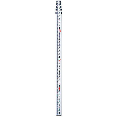 16' Aluminum Telescopic Level Rod In Inches 8ths For Surveying Contractor Grade