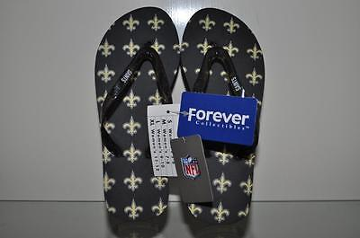 ad9ea787 NEW ORLEANS SAINTS Women Glitter Logo Flip Flops by Forever Collectibles NWT