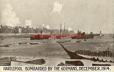 Printed Ww1 Hartlepool Bombardment Postcard, December 1914, County Durham