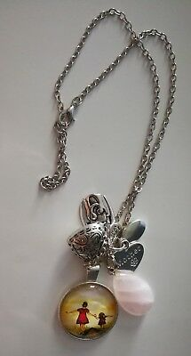 Code 454 LOVE MY DAUGHTER Rose Quartz Gemstone Infused Necklace Archangel Ariel