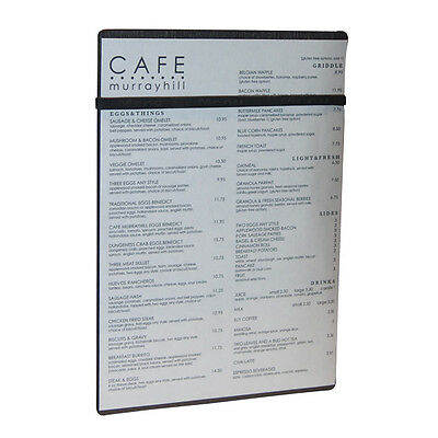 A4 Black Timber Board with Menu Band
