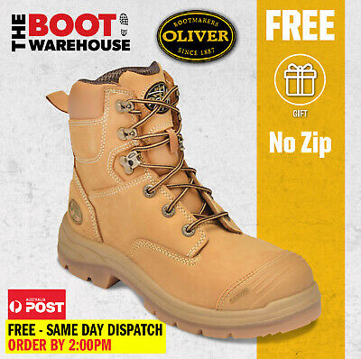 "Oliver Work Boots 55332, 150mm (6""), Lace-Up, Steel Cap Safety - UPDATED STYLE"