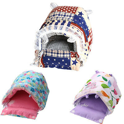 Hammock for Ferret Rabbit Rat Hamster Parrot Squirrel Hanging Bed Toy House S-XL