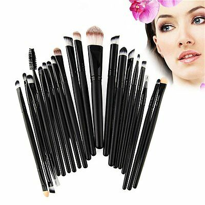 20 pz Pro Trucco Cosmetici Pennelli Make Up Foundation Brush Set Nuovo NN