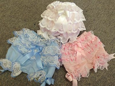 BABY GIRLS Frilly KNICKERS - Bloomers  Frillys and lace