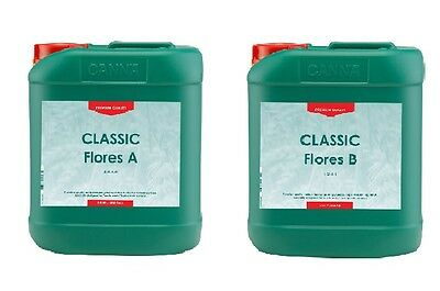 CANNA FLORES CLASSIC A&B 2x5 LITRES HYDROPONIC NUTRIENTS #1 IN HOLLAND