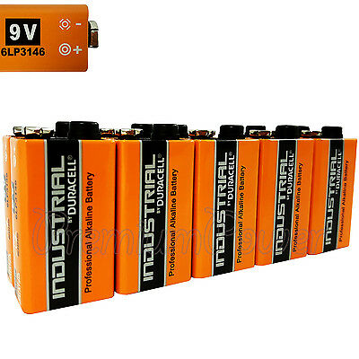 10 x Duracell Industrial 9V 6LP3146 batteries Block PP3 LR22 MN1604 6LR61