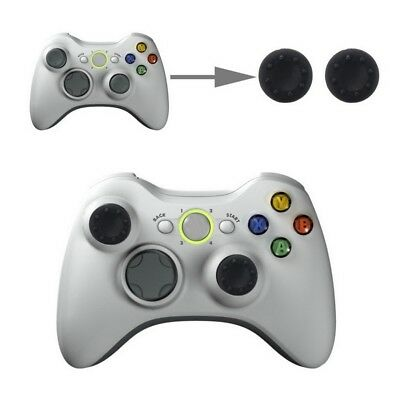 TECH Black 2 PCS Silicone Key Protector Thumb Grips Joystick Caps for PS4 & XBOX