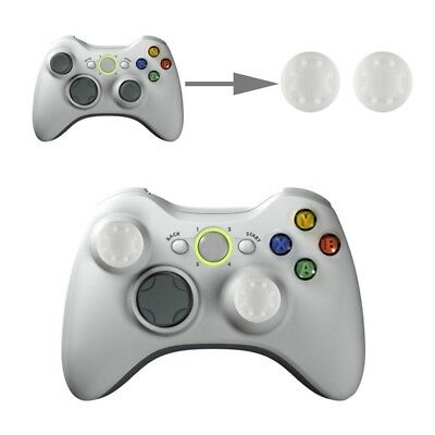 TECH White 2 PCS Silicone Key Protector Thumb Grips Joystick Caps for PS4 & XBOX