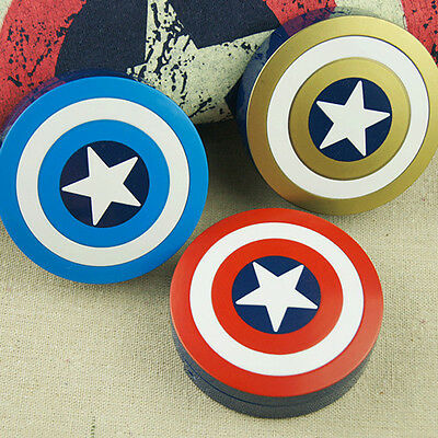 Captain America Eye Contacts Lens Case Box Mirror Container Holder Travel Kit
