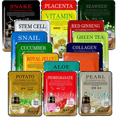 Korea Cosmetic Facial Skin Care Ultra Hydrating Essence Face Mask Pack Sheets