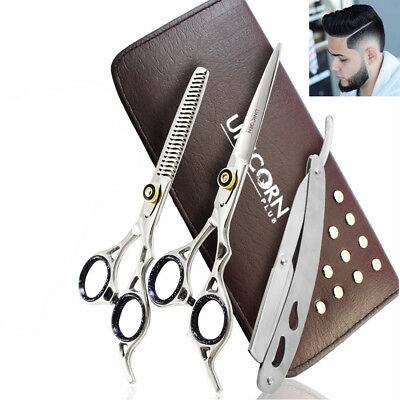 "6.5"" New unicornplus Professional Hairdressing Thining Scissors & Barber Salon"
