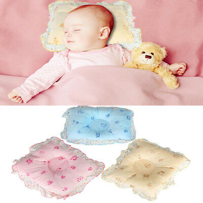 Newborn Baby Infant Pillow Anti-Flat Head Neck Support Crib Cot Bed Soft Velvet