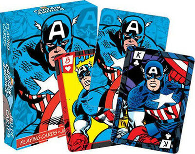 Captain America - Playing Card Deck - 52 Cards New - Marvel Comics 52278