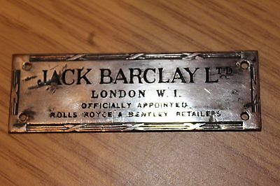 Jack Barclay Official Bentley & Rolls Royce Dashboard Suppliers Badge