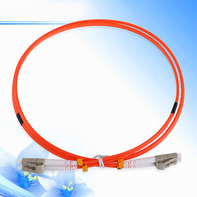 1M DUPLEX 62.5/125 MULTIMODE FIBER LC-LC 3.0mm OPTIC CABLE PATCH Cord Jumper