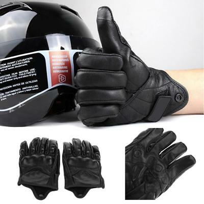 Motorcycle Riding Racing Bike Protective Armor Short Leather Gloves Driving Warm
