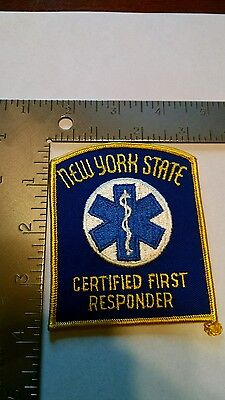 NEW York POLICE  Rescue EMS patch patches Certified First Responder