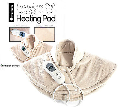 Homefront Shoulder Back Neck Heat Pad Therapeutic Soothing Pain Relief Therapy
