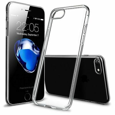 For iPhone XS MAX 7 8 Plus Crystal Clear Soft TPU Silicon Thin Back Case Cover