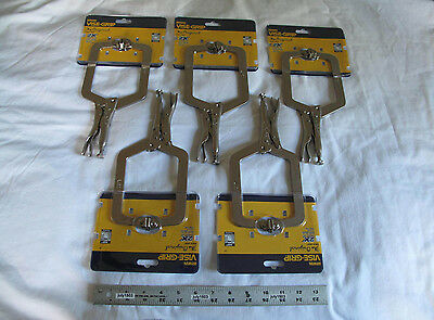 "(5) New Irwin 9"" Vise-Grip Locking C-Clamp 9SP 4-1/2"" Capacity, free shipping!"