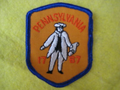 "Vintage State Of Pennsylvania Patch 2 5/8"" X 3 1/4"""