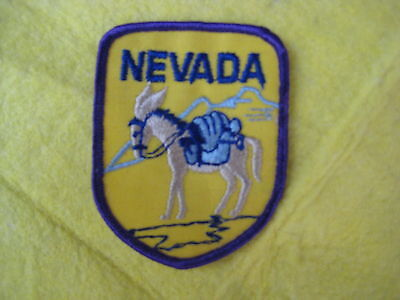 "Vintage State Of Nevada Patch 2 5/8"" X 3 1/4"""