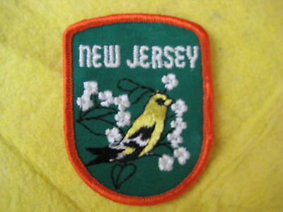 "Vintage State Of New Jersey Patch 2 5/8"" X 3 1/4"""
