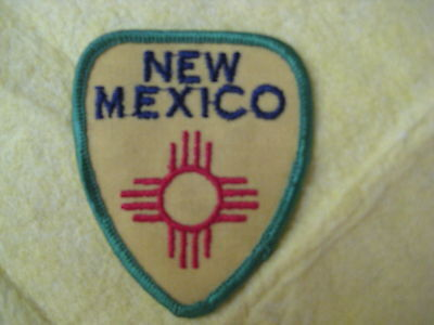"Vintage State Of New Mexico Patch 2 5/8"" X 3 1/4"""