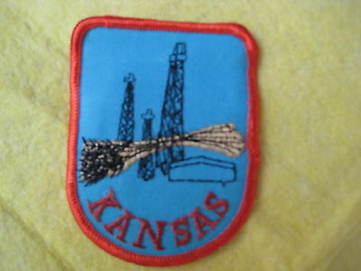 "Vintage State Of Kansas Patch 2 5/8"" X 3 1/4"""