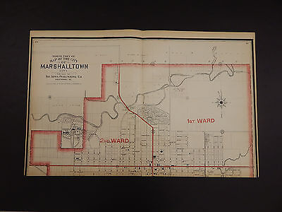 Iowa, Marshall County Maps, 1907 City of Marshalltown, Two Double Pages P3#63