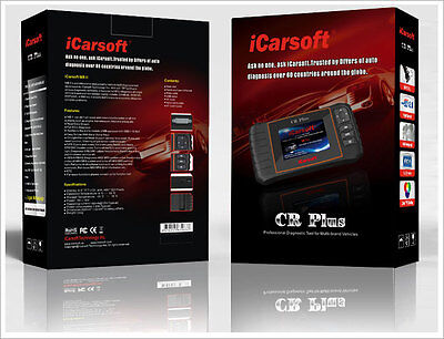 OBD2  iCARSOFT CR PLUS ENGINE OIL LIGHT AIRBAG SERVICE RESET DIAGNOSTIC TOOL