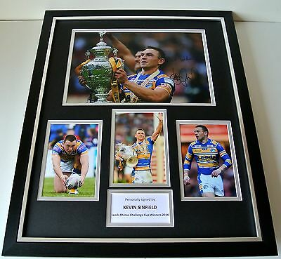 Kevin Sinfield SIGNED FRAMED Photo Autograph Huge display Leeds Rhinos Rugby COA
