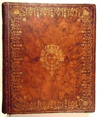 Book Box 1805 Large beautiful old leather box secret compartment