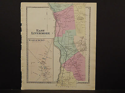 Maine, Androscoggin County Map, 1873 Town of East Livermore O3#62