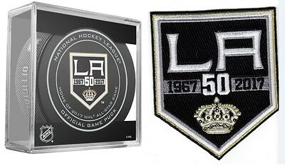 Los Angeles Kings 50Th Year Anniversary Season Puck & Patch  L.a. Stanley Cup