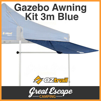 Oztrail Removable Gazebo Awning Kit Blue Suits Deluxe 3m Gazebo