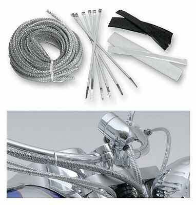 Chrome Brake Cable/Line/Hose covers/kit YAMAHA XV1900 MIDNIGHT STAR: BA-8200M