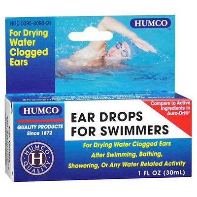 Humco Ear Drops for Swimmers, For Drying Water Clogged Ears, 1 oz