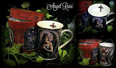 ~ANGEL ROSE COFFEE MUG-BOXED~Anne Stokes~Collectible~Dark Artwork~Gothic~Cup
