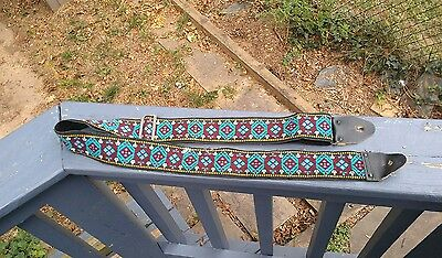 Vintage 60s 70s Hippie Cloth Guitar Strap. Hippy