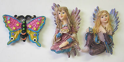 Fridge Magnets Butterfly & Fairy Designs Colourful Glitter Magnet You Select Set