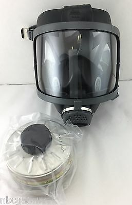 Scott/SEA Domestic Preparedness FP Gas Mask with Filter, Voice Amp, & Carry Case