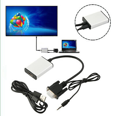 VGA To HDMI Adapter Output 1080P HD And USB Audio HDTV Video Cable Converter WL