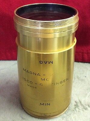 ISCO Gottingen Magna-Com 65 MC Min Mag Brass Movie Theater Projector LENS